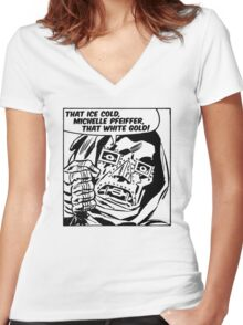 Uptown Funk  Women's Fitted V-Neck T-Shirt