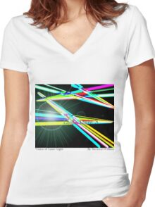 Vision Of Art Gallery Women's Fitted V-Neck T-Shirt