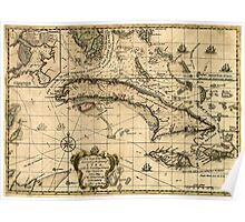 American Revolutionary War Era Maps 1750-1786 161 A new chart of the seas surrounding the island of Cuba with the soundings currents ships courses &c and a Poster