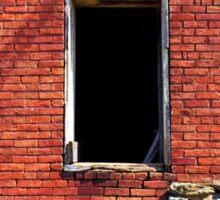 Red Brick Window Sticker