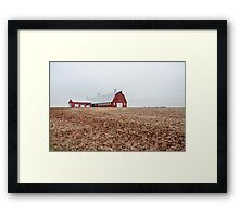 Red Barn Americana Framed Print