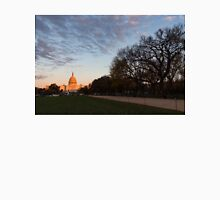 Soft Orange Glow - US Capitol and the National Mall at Sunset Unisex T-Shirt