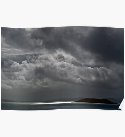 Cloudy island Poster