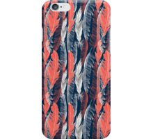 graphic pattern of feathers iPhone Case/Skin