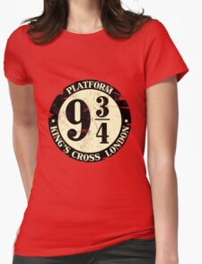 harry potter platform 9 3/4 Womens Fitted T-Shirt