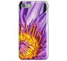 Purple and Gold Water Lily iPhone Case/Skin