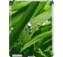 Green Rain Drops iPad Case/Skin