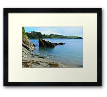 Rocks at Trebah Gardens Cornwall Framed Print