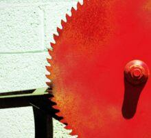 Red Saw Blade Sticker