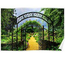 English country garden Poster