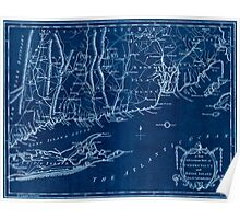 American Revolutionary War Era Maps 1750-1786 141 A new and accurate map of Connecticut and Rhode Island from best authorities Inverted Poster