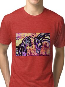 Fantasy Mare And Foal Tri-blend T-Shirt
