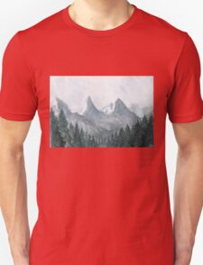 Blue mountains Watercolor Illustration T-Shirt