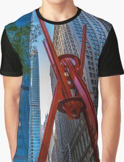 Street Sculpture Downtown Manhattan New York Graphic T-Shirt