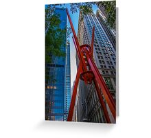 Street Sculpture Downtown Manhattan New York Greeting Card