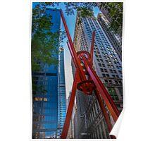 Street Sculpture Downtown Manhattan New York Poster