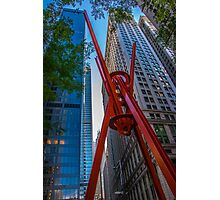 Street Sculpture Downtown Manhattan New York Photographic Print