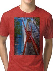 Street Sculpture Downtown Manhattan New York Tri-blend T-Shirt