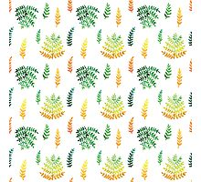 Watercolor leaf seamless pattern Photographic Print