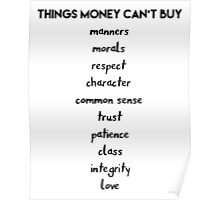 Things Money cant Buy Poster