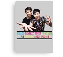 The Amazing Tour is Not On Fire - Dan and Phil Canvas Print