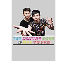 The Amazing Tour is Not On Fire - Dan and Phil Photographic Print