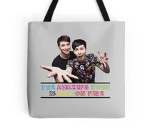 The Amazing Tour is Not On Fire - Dan and Phil Tote Bag