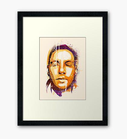 MY FACE Framed Print