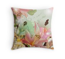 Shining lilies composition Throw Pillow
