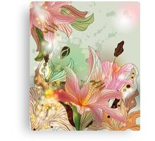 Shining lilies composition Canvas Print