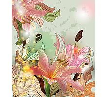 Shining lilies composition Photographic Print