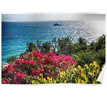 Scenic Caribbean Coastal Vista, St Thomas, USVI Poster