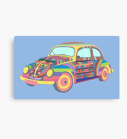 Beetle - Coloured Canvas Print