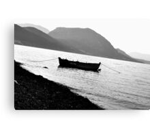 Lonely Boat Photograph Canvas Print