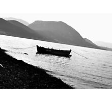 Lonely Boat Photograph Photographic Print