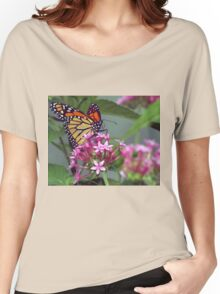 Monarch in pink ixora Women's Relaxed Fit T-Shirt