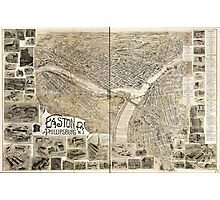 Easton, Pennsylvania and Phillipsburg, New Jersey (1900) Photographic Print