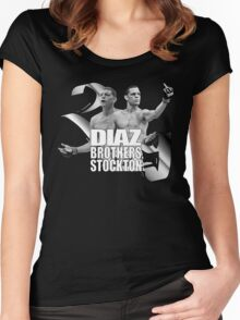 Diaz brothers 209 stockton Women's Fitted Scoop T-Shirt