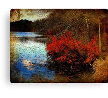 Waterside Symphony Edited Canvas Print