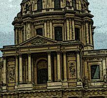 Paris Comic Sketch Sticker