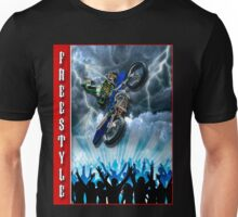Freestyle Motocross rider flying over the crowd Unisex T-Shirt