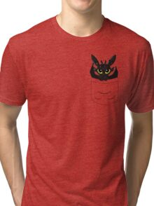 How To Train Your Dragon, Toothless cute pocket Tri-blend T-Shirt