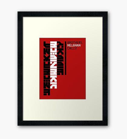 Helghan Calls Framed Print