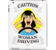 Funny traffic signal woman driving  iPad Case/Skin
