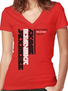 Helghan Calls Women's Fitted V-Neck T-Shirt