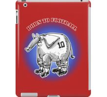 cartoon style football player elephant iPad Case/Skin