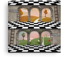 Spring and autumn building Canvas Print
