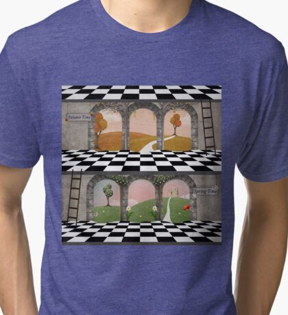 Spring and autumn building Tri-blend T-Shirt