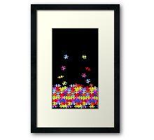 autism puzzle pieces Framed Print