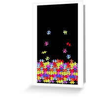 autism puzzle pieces Greeting Card